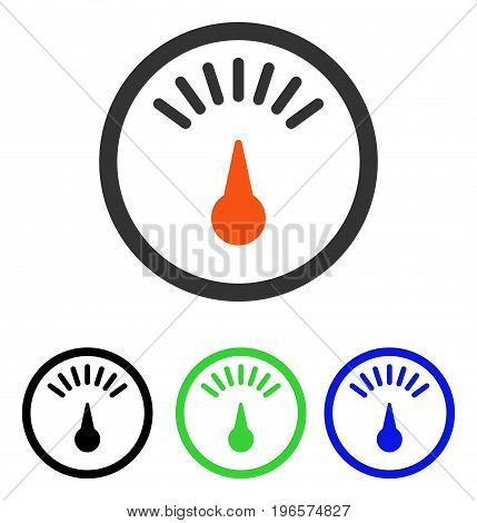 Meter vector icon. Illustration style is a flat iconic colored symbol with different color versions.