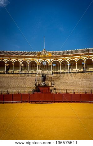 The Bull Fighting Ring At Seville, Spain, Europe