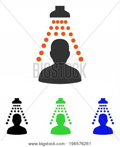 Patient Disinfection vector pictograph. Illustration style is a flat iconic colored symbol with different color versions.