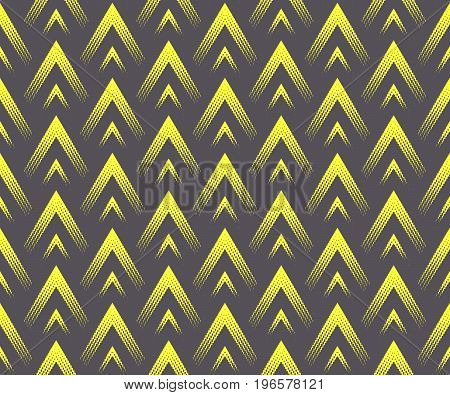 Seamless geometric pattern of triangles. Shades and tints. Bright colors.