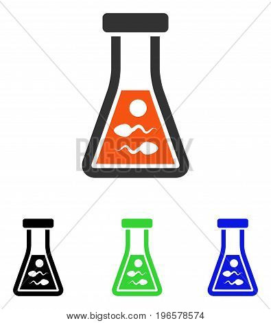 Sperm Liquid vector pictogram. Illustration style is a flat iconic colored symbol with different color versions.