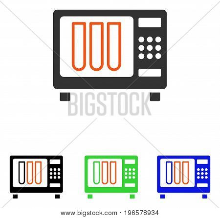 Sterilizer vector icon. Illustration style is a flat iconic colored symbol with different color versions.