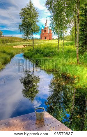 Volgoverkhovye Olginsky Convent Church  Transfiguration In Russia Tver Region