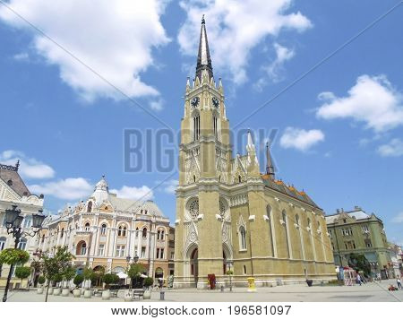 Church of the name of Mary on Liberty square in Novi Sad, Serbia
