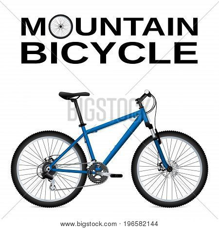 Mountain bike. Isolated object. Realistic image Vector illustration