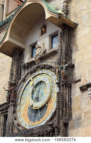 Astronomical clock in the center of Prague