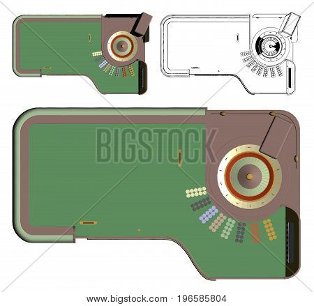 Casino Roulette Gamble Table Isolated Illustration Vector