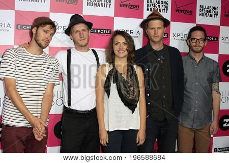 LOS ANGELES - JUL 25:  The Lumineers at the Billabong's 6th Annual Design For Humanity Event at the Paramount Studios on July 25, 2012 in Los Angeles, CA