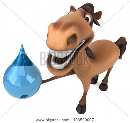 Fun horse - 3D Illustration