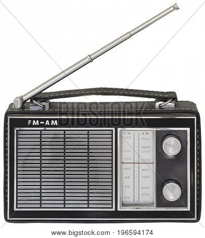 Old Black Portable Radio Receiver Cutout