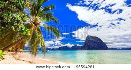 Incredible wild beauty of Philippines islands. Palawan, El Nido