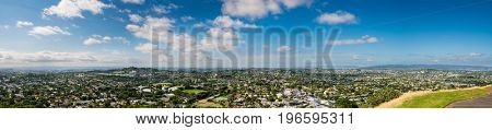 Auckland Panorama from the hill. New Zealand