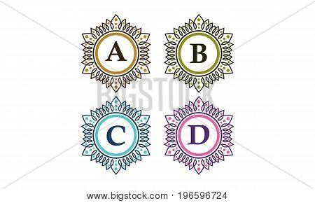 This image describe about Emblem Initial A B C D