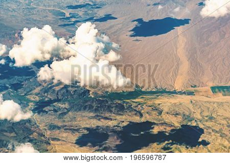 Clouds over the desert in south eastern, California