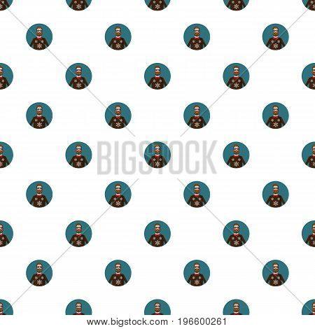 Man portrait pattern seamless repeat in cartoon style vector illustration