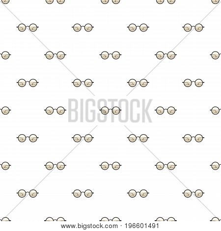 Glasses pattern seamless repeat in cartoon style vector illustration