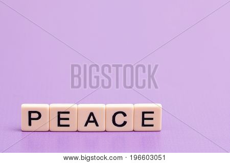 Peace Spelled Out In Tiles