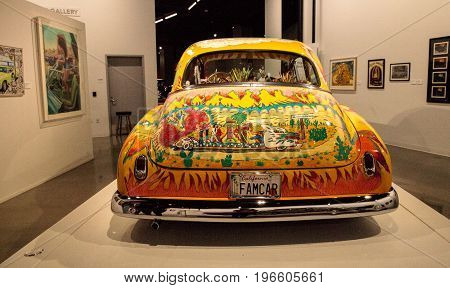 Colorful 1950 Chevrolet Sedan Lowrider Called Our Family Car By Artist Gilbert Magu Lujan