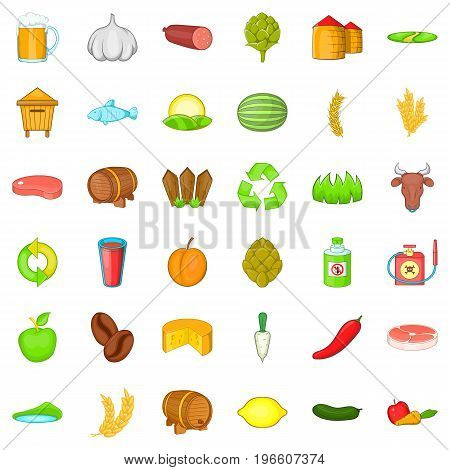 Agriculture property icons set. Cartoon style of 36 agriculture property vector icons for web isolated on white background