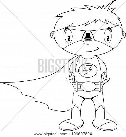 Superhero Outline 6