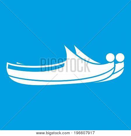 Turkish shoes icon white isolated on blue background vector illustration