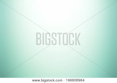 White and green (turquoise) gradient abstract background