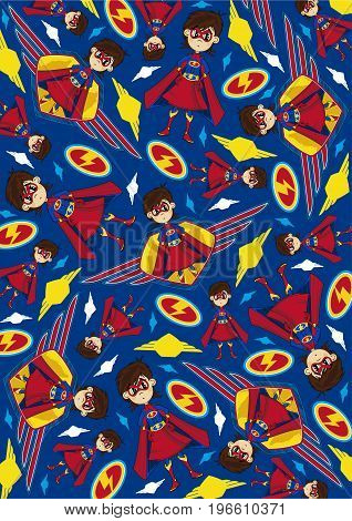 Superhero Girl Pattern