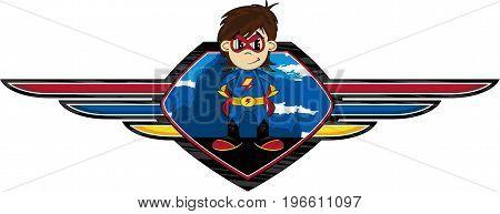 Superhero & Winged Shield