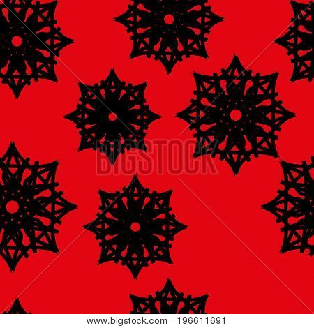 Seamless Pattern Of Stars And Snowflakes