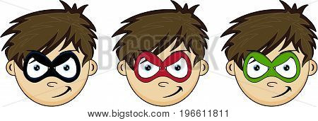 Superboy Kid Head