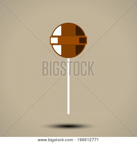 Lollipop sweetmeat isolated on white background. Vector illustration