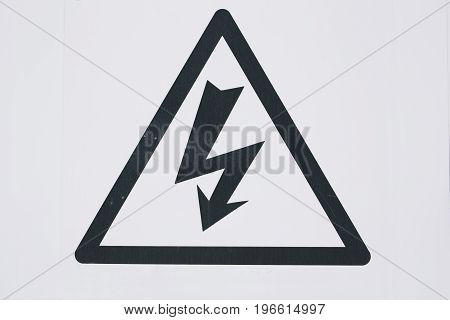 High voltage sign on the white background.