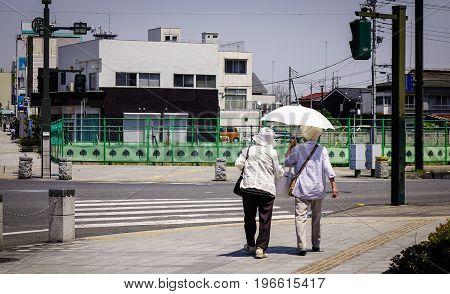 Street At Downtown In Ashikaga, Japan