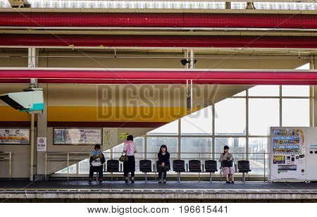 Railway Station In Ashikaga, Japan