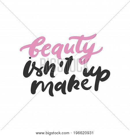 Set of beauty quotes.  Hand lettering and custom typography for your design