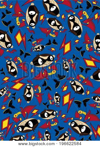 Cute Superhero Pattern