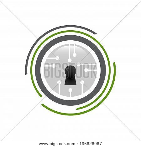 Security guard logo design vector. Security protection symbol .