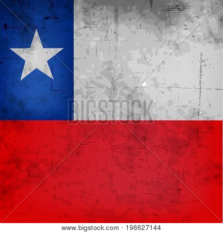 illustration of Chile flag background with on the occasion of Chilean Fiestas Patrias