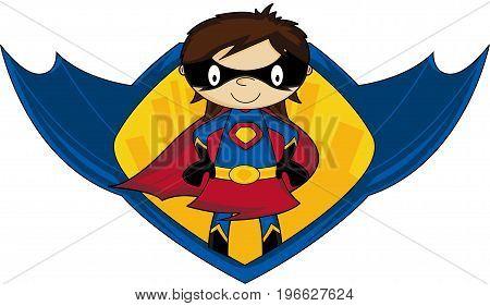 Cute Superhero Graphic