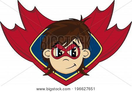 Cute Superhero & Shield