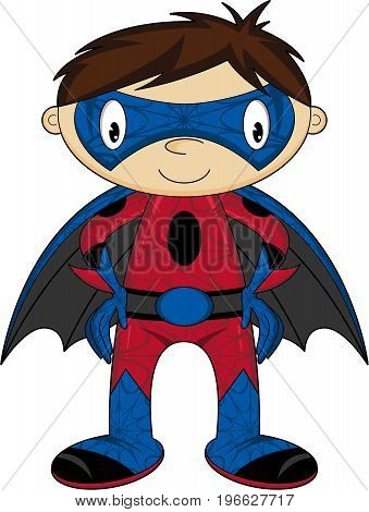 Cute Little Superhero Boy