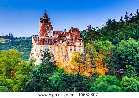 Brasov Transylvania. Romania. The medieval Castle of Bran known for the myth of Dracula.