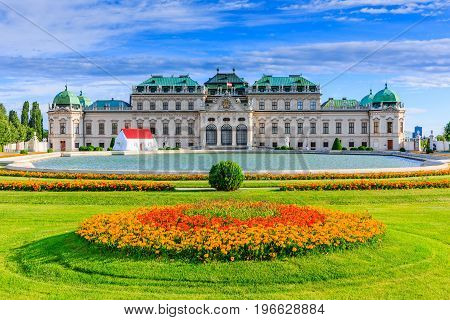 Vienna Austria. Upper Belvedere Palace and garden.