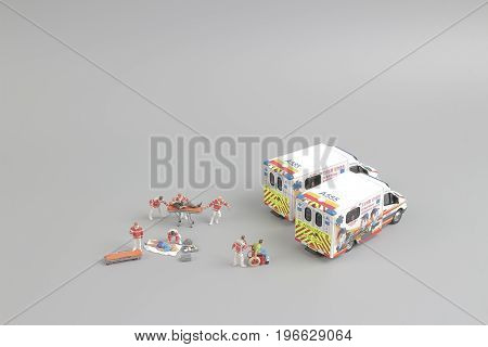 The Ambulance As Toy Car And Paramedics