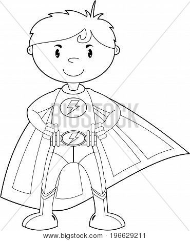 Colour In Super Boy Hero