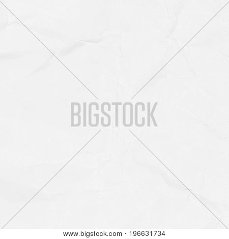 Crumpled white paper texture background for business education and communication concept design.