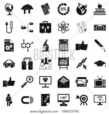 Business analytics icons set. Cartoon style of 36 business analytics vector icons for web isolated on white background