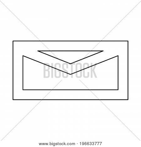 Mail Black Color Path Icon .