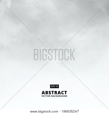 Abstract white cloud detail in blue sky vector illustration background with copy space