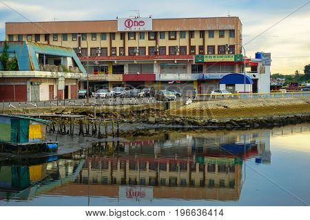 Labuan,Malaysia-July 6,2017:View of One Hotel,budget inn in Labuan island,Malaysia.With effect on 1st July 2017,the Malaysian goverment will implement tourism tax on industry hotel in Malaysia.